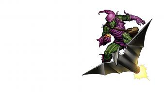 Green goblin spider-man comics villians white background wallpaper