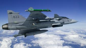 Gripen air force fighter jets airforce wing wallpaper
