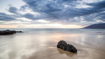 Hawaii usa calm long exposure sea beach Wallpaper
