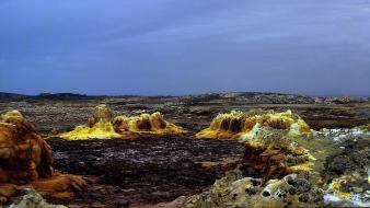 Hell rocks brown ethiopia depression warm volcanic Wallpaper