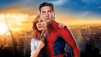 Kirsten dunst spiderman tobey maguire comics lovers wallpaper