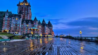 Landscapes castles quebec cities chateau frontenac wallpaper
