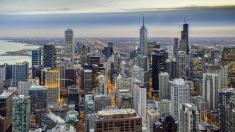 Landscapes cityscapes chicago skyscrapers wallpaper