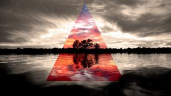 Landscapes paradise triangle wallpaper