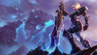 League of legends riven moba game wallpaper