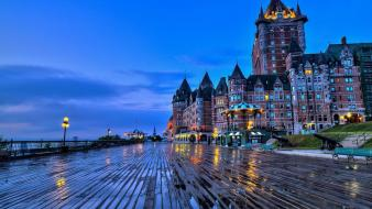 Lights buildings canada quebec cities chateau frontenac wallpaper