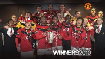 Manchester united football teams carling cup legend wallpaper