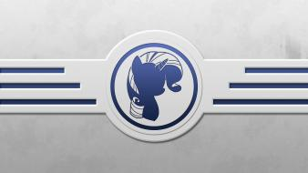 Minimalistic my little pony rarity icon wallpaper