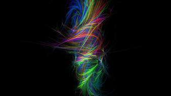 Multicolor digital art swirls whirlpools colors tornado wallpaper