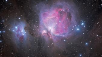 Outer space stars nebulae astronomy orion messier 42 wallpaper