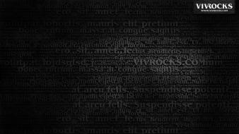 Paper black text matrix digital art type wallpaper