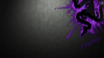 Purple razer gamers digital art logos logo wallpaper