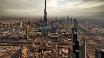 Roads middle east arab burj khalifa uae Wallpaper