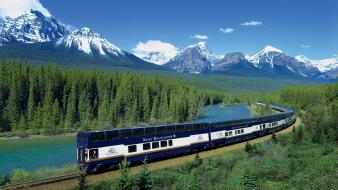 Rocky mountains unesco world heritage site blue wallpaper