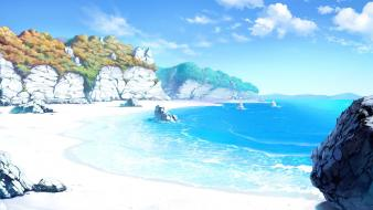 Sea akizora ni mau confetti beach seashore wallpaper