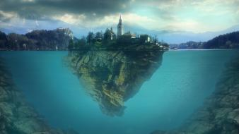 Slovenia lakes grove edited lake bled creative wallpaper