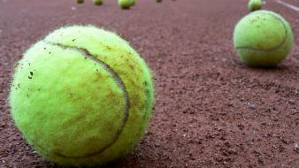 Sports tennis balls clay widescreen wallpaper