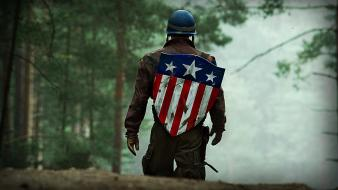 Stripes america: the first avenger and shields wallpaper