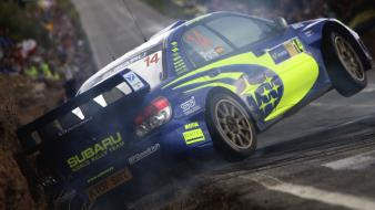 Subaru impreza wrc cars ditch drift wallpaper