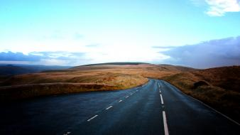 Sun hills wales roads skies salvatore turone wallpaper