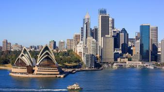 Sydney cityscapes house sea skyline wallpaper