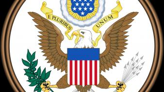 Usa coat of arms united seal wallpaper