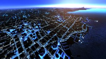 Video games mirrors edge cities Wallpaper