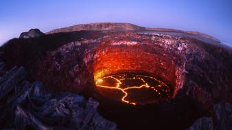 Volcanoes lava rocks crater ethiopia heat ale wallpaper