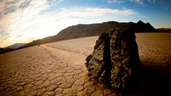 California death valley sailing racetrack playa sliding wallpaper