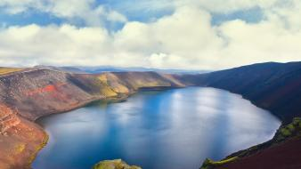 Clouds landscapes nature lakes skyscapes wallpaper
