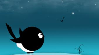 Creative Black Bird Hd Wallpaper