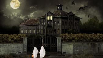 Halloween Scary House wallpaper