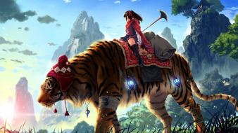 Huge Tiger Ride wallpaper