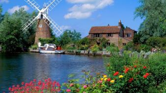 Hunsett mill norfolk england wallpaper
