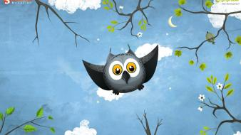 May Owl Flight wallpaper