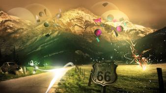 Mountains Route 66 wallpaper