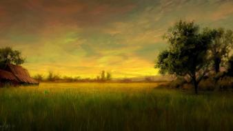 Nature horizon artwork master piece wallpaper
