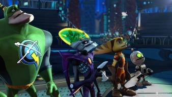 Playstation 3 ratchet one y clank q force wallpaper