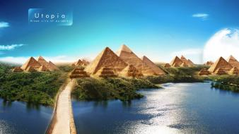 Pyramids of utopia wallpaper