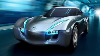Red cars nissan concept art sports speed wallpaper