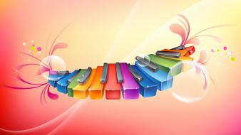 Rhythmic Colorful Piano wallpaper