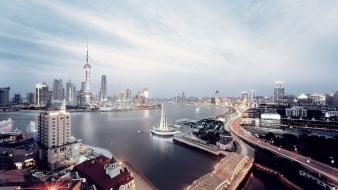 Shanghai Skyline Hd wallpaper