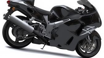 Suzuki hayabusa pure black Wallpaper