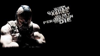 Text superheroes bane batman the dark knight rises wallpaper