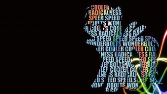Typography my little pony rainbow dash wallpaper