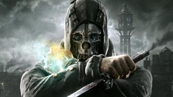 Video games storm masks artwork knives dishonored killer wallpaper