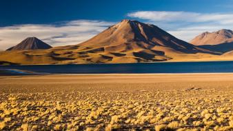 Andes atacama desert chile steppe beige Wallpaper