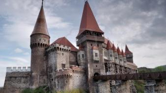 April hunyad castle romania castles famous wallpaper