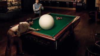 Bar funny pool cue table wallpaper