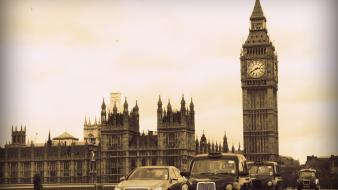 Big ben united kingdom roads taxi 60s wallpaper